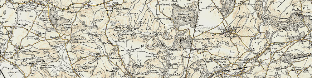 Old map of St Catherine in 1899