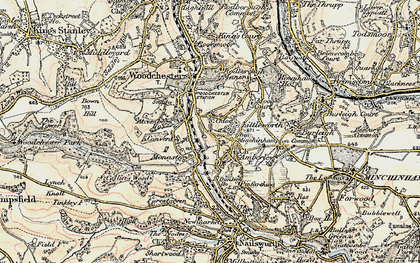 Old map of Atcombe Court in 1898-1900