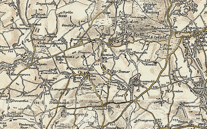 Old map of St Cleer in 1900