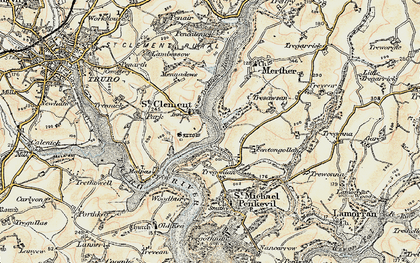 Old map of St Clement in 1900