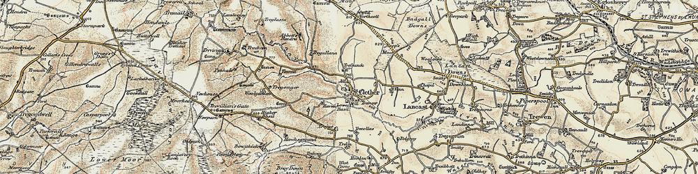 Old map of Woolgarden in 1900