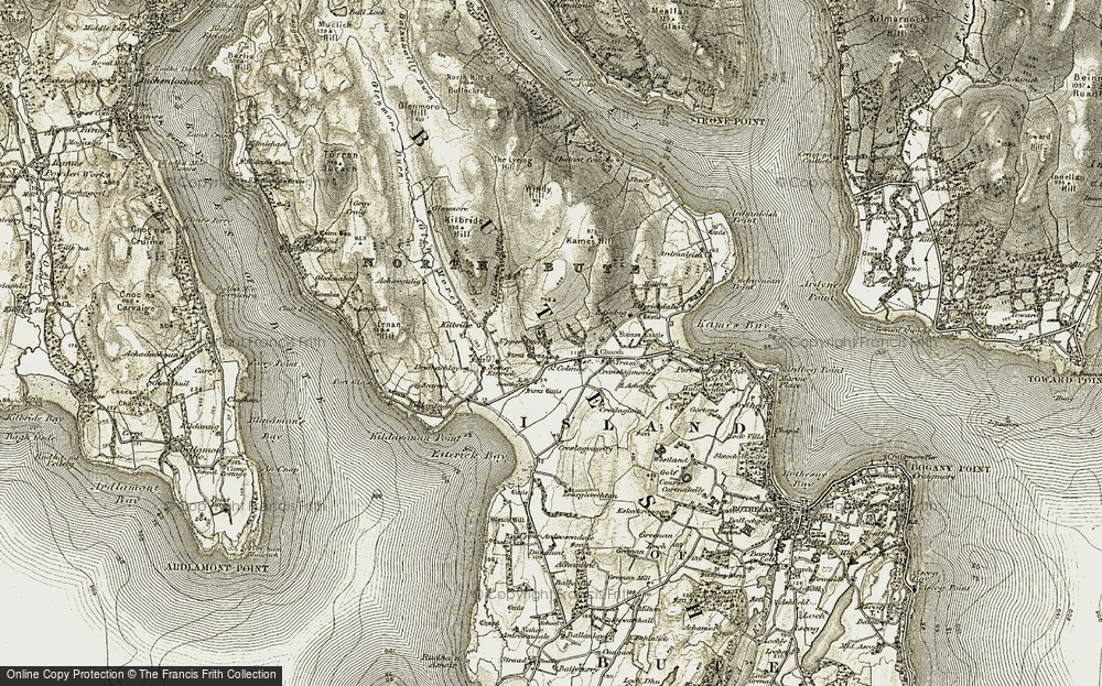 Old Map of Historic Map covering Acholter in 1905-1907