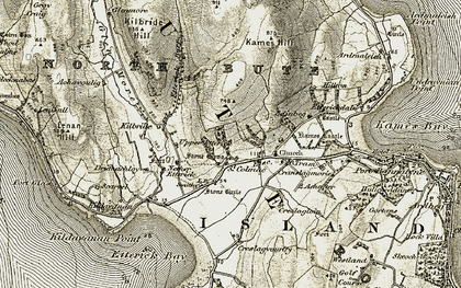 Old map of Achavoulaig in 1905-1907