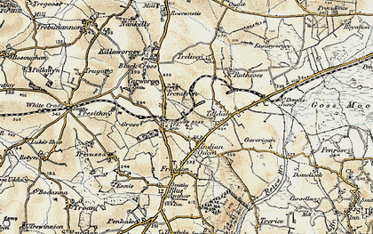 Old map of St Columb Road in 1900