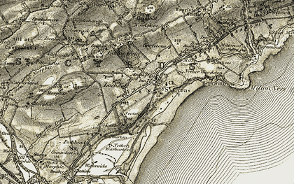 Old map of Woodstone Hill in 1907-1908
