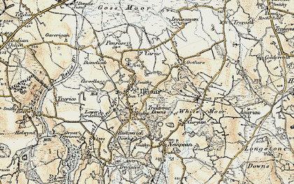 Old map of St Dennis in 1900