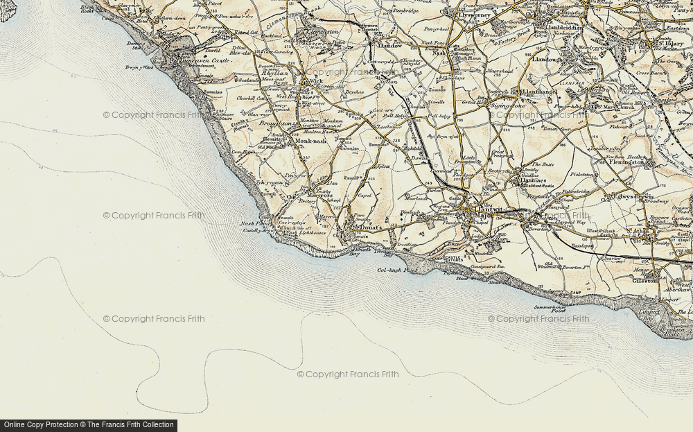 Old Map of St Donat's, 1899-1900 in 1899-1900