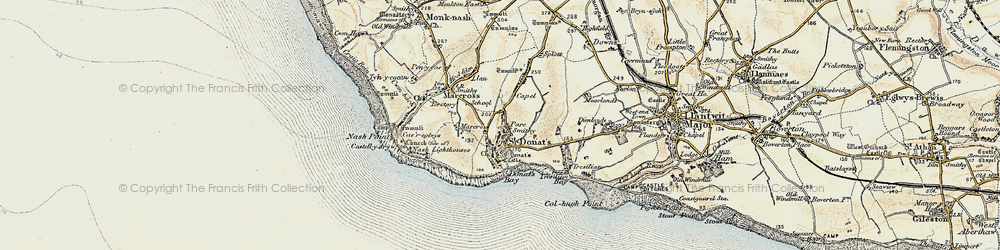 Old map of St Donat's in 1899-1900