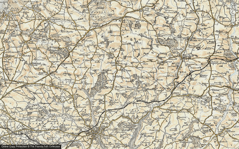 Old Map of Historic Map covering Laniley in 1900