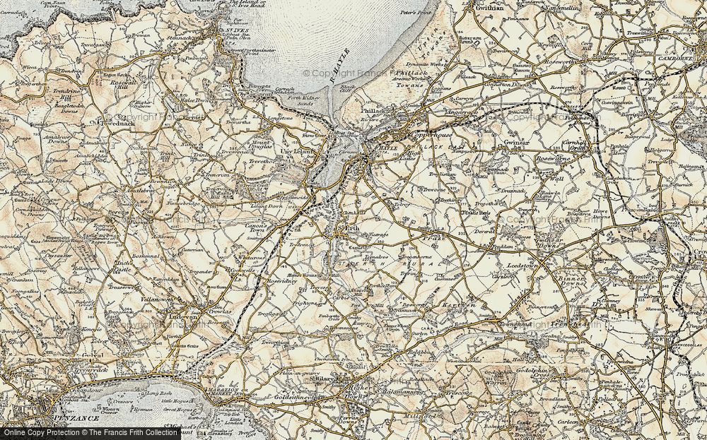 Old Map of St Erth, 1900 in 1900