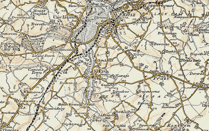 Old map of St Erth in 1900