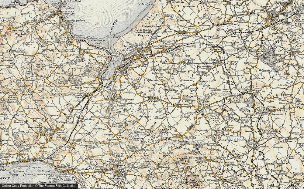 Old Map of Historic Map covering Tolroy in 1900