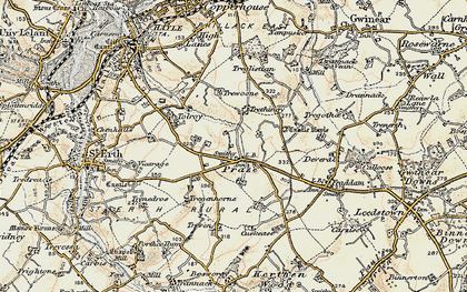 Old map of Tolroy in 1900