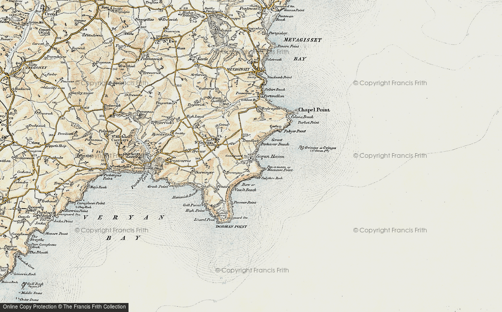 Old Map of St Goran, 1900 in 1900