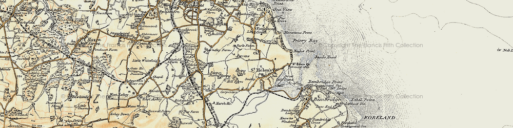 Old map of Whitefield Wood in 1899