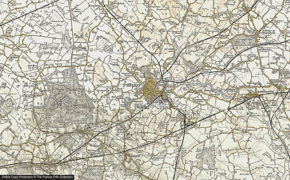 Old Map of St Helens, 1903 in 1903