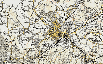 Old map of St Helens in 1903