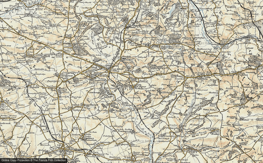 Old Map of St Hilary, 1899-1900 in 1899-1900