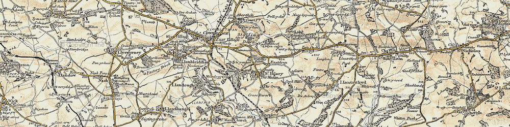 Old map of St Hilary in 1899-1900