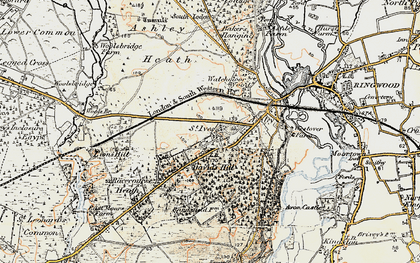 Old map of Avon Heath Country Park in 1897-1909
