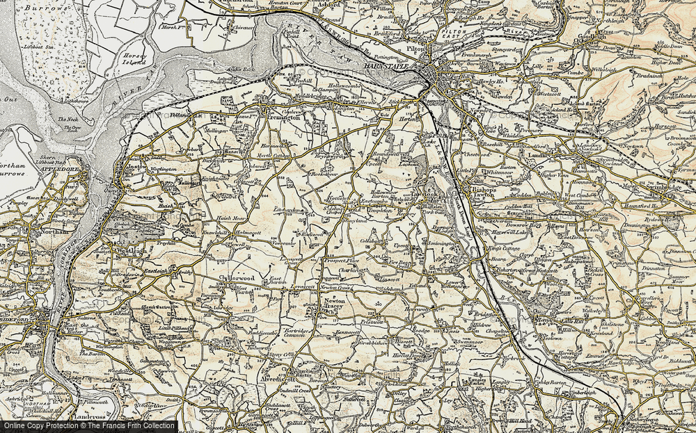 old map of st johns chapel 1900 in 1900