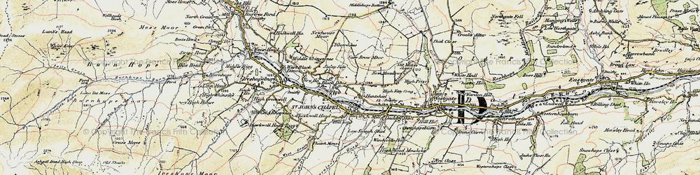 Old map of St John's Chapel in 1901-1904