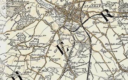 Old map of St Julians in 1897-1898