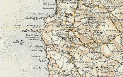 Old map of St Just in 1900