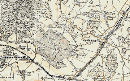 Old map of Langfield Copse in 1897-1899