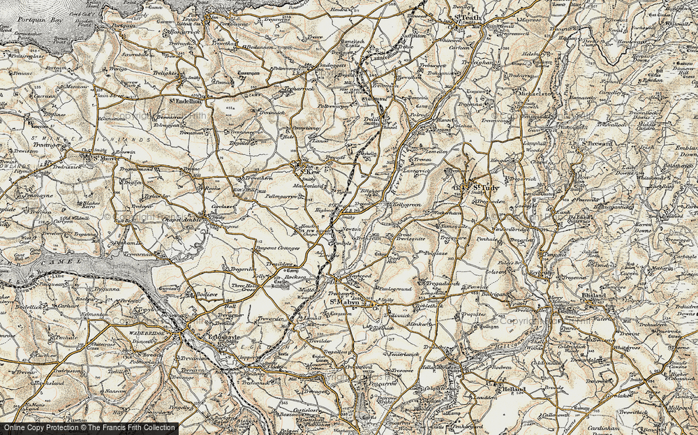 Old Map of Historic Map covering Leeches in 1900