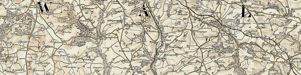 Old map of Windsor Wood in 1900
