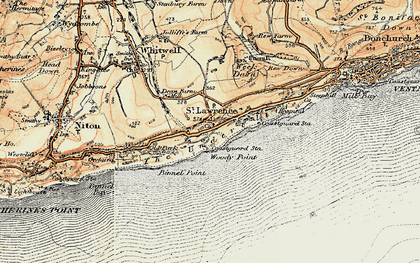 Old map of St Lawrence in 1899