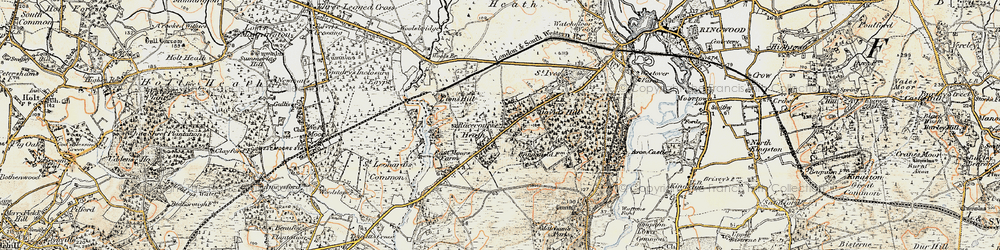 Old map of St Leonards in 1897-1909