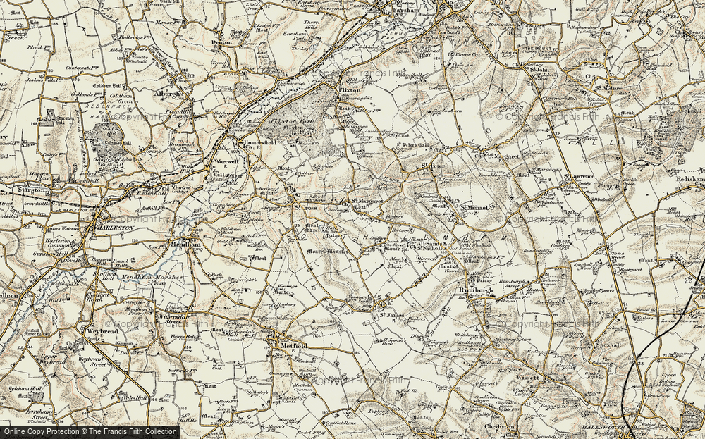 Old Map of St Margaret South Elmham, 1901-1902 in 1901-1902