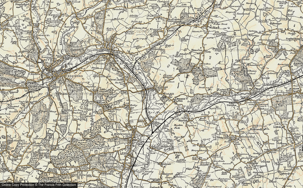 Old Map of St Margarets, 1898 in 1898