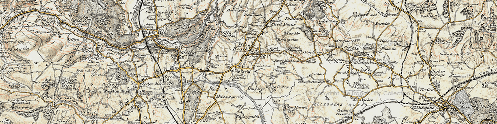 Old map of St Martins in 1902