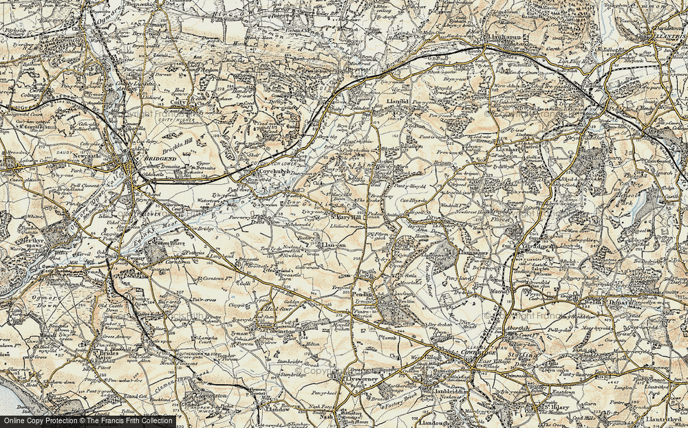 Old Map of St Mary Hill, 1899-1900 in 1899-1900