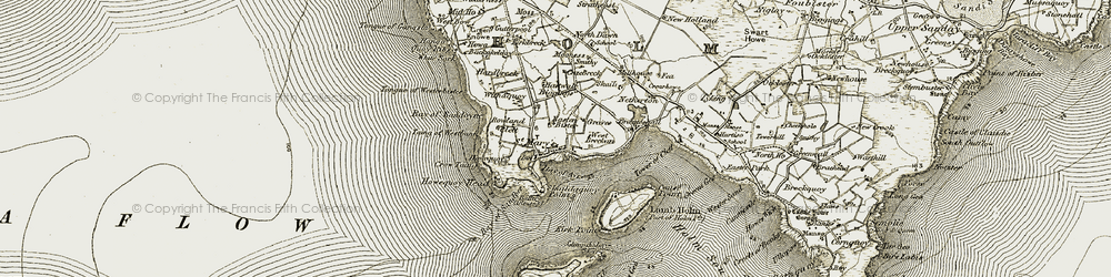 Old map of White Sark in 1911-1912