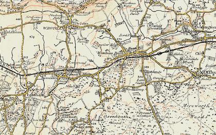 Old map of St Mary's Platt in 1897-1898