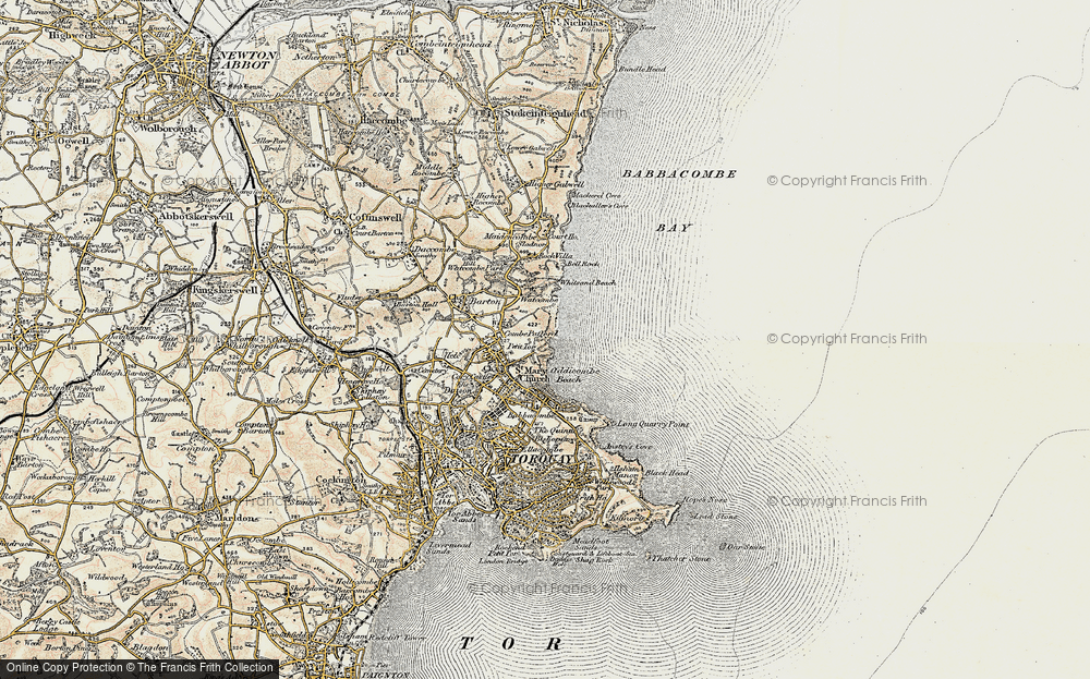 Old Map of St Marychurch, 1899 in 1899