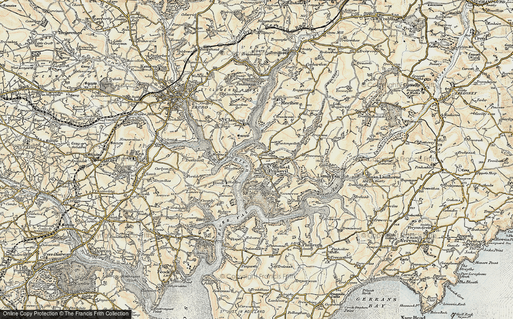 Old Map of St Michael Penkivel, 1900 in 1900