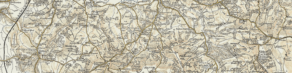 Old map of Wilden in 1899-1902