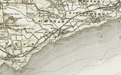Old map of St Monans in 1903-1908