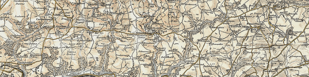 Old map of St Neot in 1900