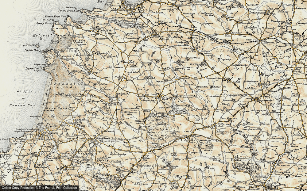 Old Map of Historic Map covering Lappa Valley Steam Rly in 1900