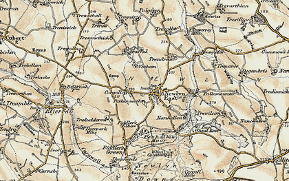 Old map of St Newlyn East in 1900