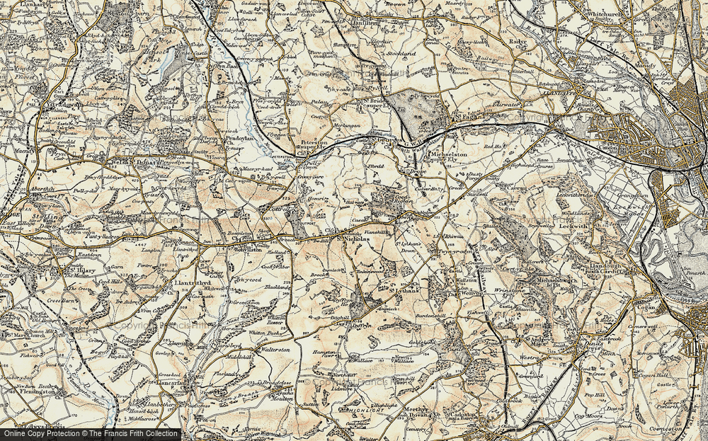 Old Map of St Nicholas, 1899-1900 in 1899-1900