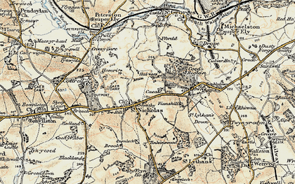 Old map of St Nicholas in 1899-1900