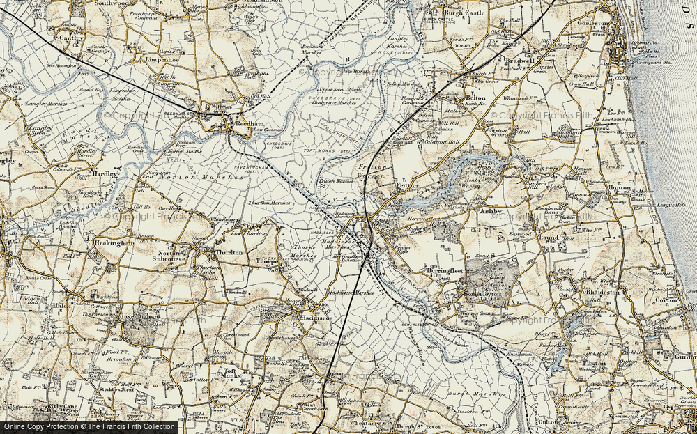 Old Map of St Olaves, 1901-1902 in 1901-1902