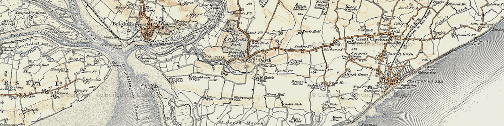 Old map of St Osyth in 0-1899